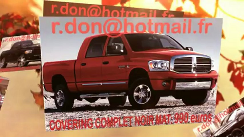 Dodge Ram, Dodge Ram, Essai video Dodge Ram, covering Dodge Ram, Dodge Ram noir mat