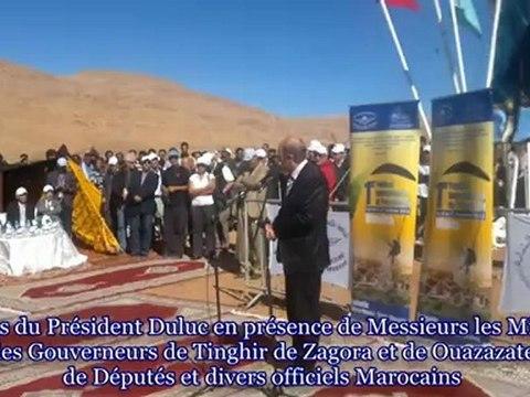 Médaille d'or au Gouverneur de la Province de Tinghir Maroc Novembre 2012