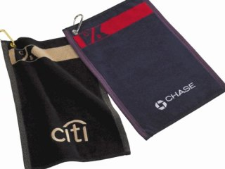 Custom Logo Embroidered Cutter and Buck Golf Towels 401-451-1874