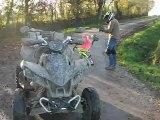 drift trike en normandie dans la manche : 2 ème descente le 1er jour(22 nov 2012)