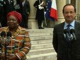 Point de presse avec Mme Nkosazana DLAMINI ZUMA, présidente de la Commission de l'Union Africaine