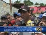 Capriles: Miranda no la vamos a entregar a la oscuridad