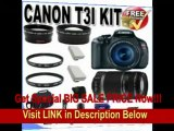 [BEST BUY] Canon EOS Rebel T3i 18 MP CMOS Digital SLR Camera and DIGIC 4 Imaging with EF-S 18-55mm f/3.5-5.6 IS Lens & Canon 55-250IS Lens + 58mm 2x Telephoto lens + 58mm Wide Angle Lens (4 Lens Kit!!!) W/16GB S