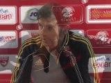 Conférence de presse Nîmes Olympique - RC Lens : Victor ZVUNKA (NIMES) - Eric SIKORA (RCL) - saison 2012/2013