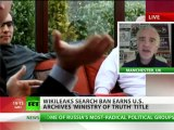'WikiLeaks search ban - censorship', earns US Archives 'Ministry of Truth' tag