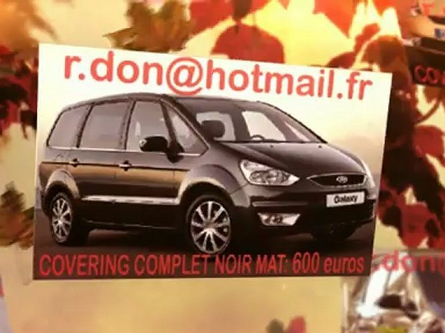 Ford Galaxy, Ford Galaxy, essai video Ford Galaxy, Ford Galaxy covering, Ford Galaxy peinture noir mat