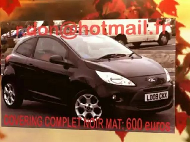 Ford Ka, Ford Ka, essai video Ford Ka, Ford Ka covering, Ford Ka peinture noir mat