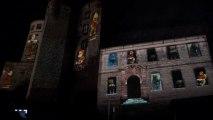 Les Lumières de Noël Montbéliard 2012 - spectacle son et lumiere avec video mapping