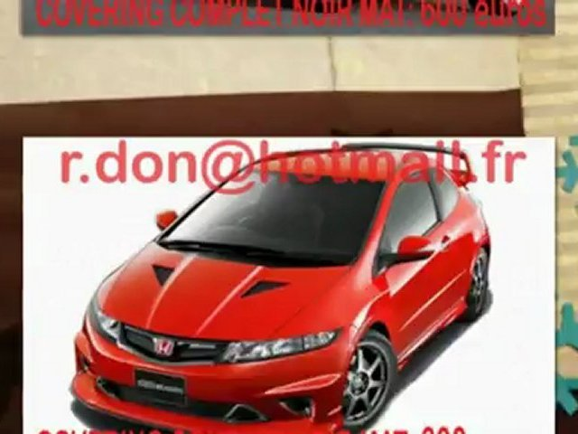 Honda Civic, Honda Civic, essai video Honda Civic, Honda Civic covering, Honda Civic peinture noir mat