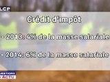 Reportages : La création du crédit d'impôt pour la compétitivité prévu pour décembre 2012