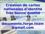 Création et vente de cartes d'identité, pièces d'identité, faux papiers