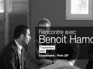 Benoit Hamon, ministre de l'ESS, rencontre Coopaname - 7/9/2012