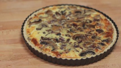 How to make a quiche with mushrooms