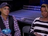 Mary J. Blige mentoring on Idol
