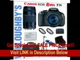 [BEST BUY] Canon EOS Rebel T3i 18 MP CMOS Digital SLR Camera with EF-S 18-55mm IS II Lens Kit + Canon EF 75-300mm III Telephoto Zoom Lens + Canon Deluxe Gadget Bag + Canon LPE8 Spare Battery + LEXSpeed 32GB SDHC