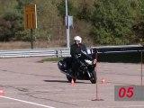 Les épreuves du permis moto 2013 en Yamaha FJR 1300 !