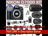 [SPECIAL DISCOUNT] REFURBISHED Nikon D7000 Digital Camera + Nikon 18-55mm VR Lens + Nikon 70-300mm Lens + .40x Wide Angle Fisheye Lens + 650-1300mm Zoom Lens + 800mm Mirror Lens + 2x T-Mount Telephoto Lens + 3 Year Cell