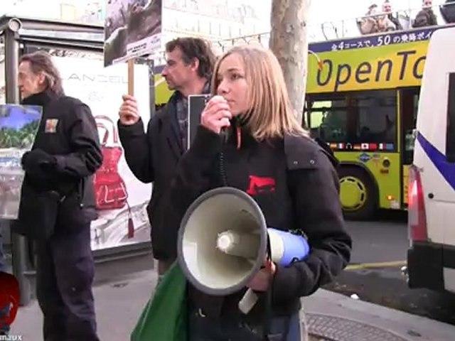 Rassemblement anti vivisection devant les agences d'Air France (01.12.2012)