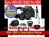 [BEST BUY] Sony HVR-HD1000U Professional Digital HDV Camcorder + .45x Wide Angle Lens + 2X Telephoto Zoom Lens + +1, +2, +4, +10 4 Piece Close Up Macro Kit + 3 Piece Multi-Coated Glass Filter Kit + Extra High Ca
