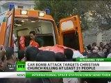 Egypt church car bombing kills 21, injures dozens
