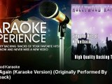 Hollywood Karaoke - Never Again (Karaoke Version) - Originally Performed By Nickelback