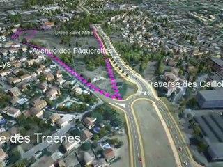 LINEA 4d : la totalité du parcours Marseille - Plan de Cuques - Allauch