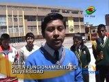 Escolares protestan por funcionamiento de Universidad Nacional de Juliaca