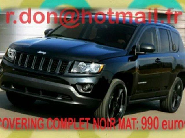 Jeep Compass, Jeep Compass, Jeep Compass essai video, Jeep Compass covering, Jeep Compass peinture noir mat