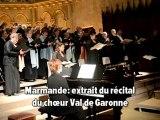 Marmande: Récital du Choeur Val de Garonne