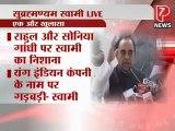 Subramanian Swamy Exposes ' Rahul, Sonia Gandhi and  Priyanka Gandhi 's 1600 Crore Corruption- P7 News__1