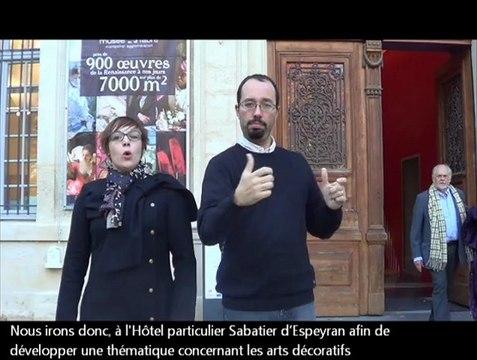 """Visite """"Le mobilier dans tous ses états"""" à l'Hôtel de Cabrières-Sabatier d'Espeyran le 8 décembre 2012"""