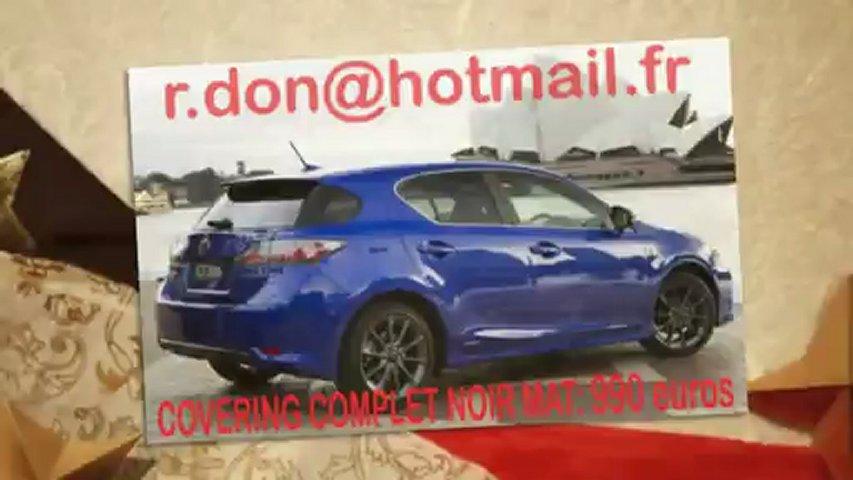 Lexus CT, Lexus CT, essai video Lexus CT, covering Lexus CT, Lexus CT peinture noir mat