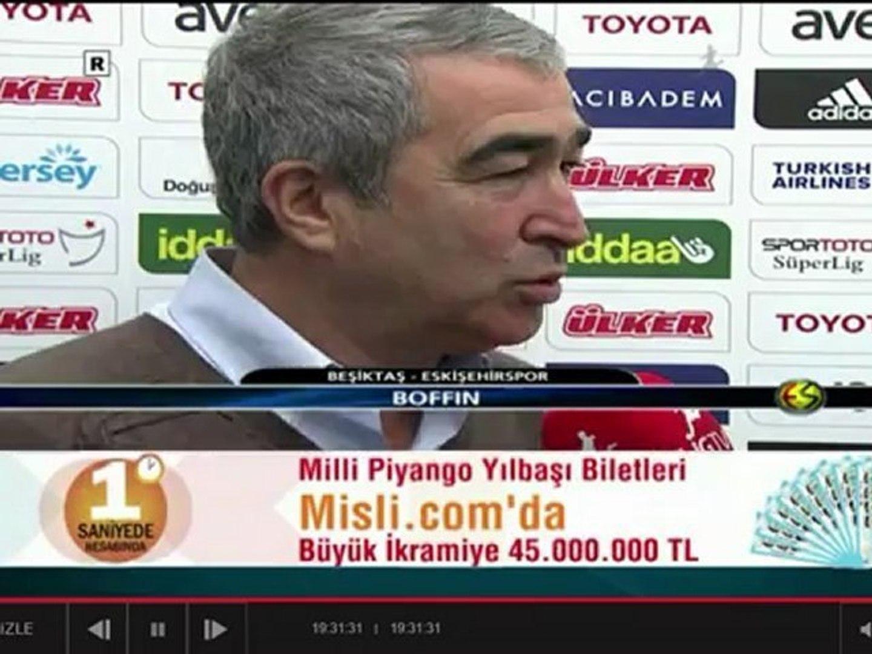 Samet Aybaba Beşiktaş - Eskişehirspor maç önü röportajı ( 07/12/2012 ) -  Dailymotion Video