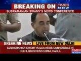Subramanian Swamy Exposes ' Sonia Gandhi , Priyanka Gandhi and Rahul Gandhi ' for1600 Crore Corruption' - Times Now