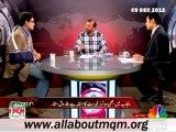 CNBC Agenda 360: Delimitation & Deweaponization of Karachi (09 Dec 2012) MQM Deputy Convener Dr Farooq Sattar