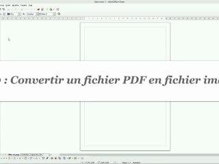 Comment convertir un fichier PDF en fichier image avec Draw ?