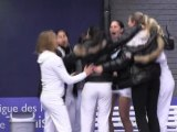 Le Lagardère Paris Racing sacré champion de France par équipes première division chez les filles.