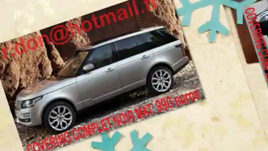 Land Rover Range Rover, Land Rover Range Rover, essai video Land Rover Range Rover, covering Land Rover Range Rover, Land Rover Range Rover peinture noir mat