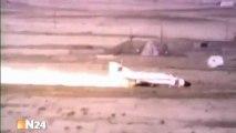 Crash-test d'un avion de chasse contre un mur en béton