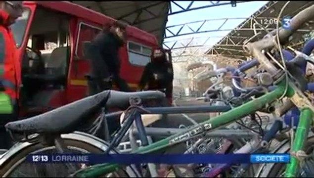 Récupération des vélos à la déchetterie du Bassin de Pompey