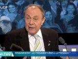 """Reportages : Rocard commente le départ de Hortefeux sur le plateau de """"Ça Vous Regarde"""" sur LCP !"""