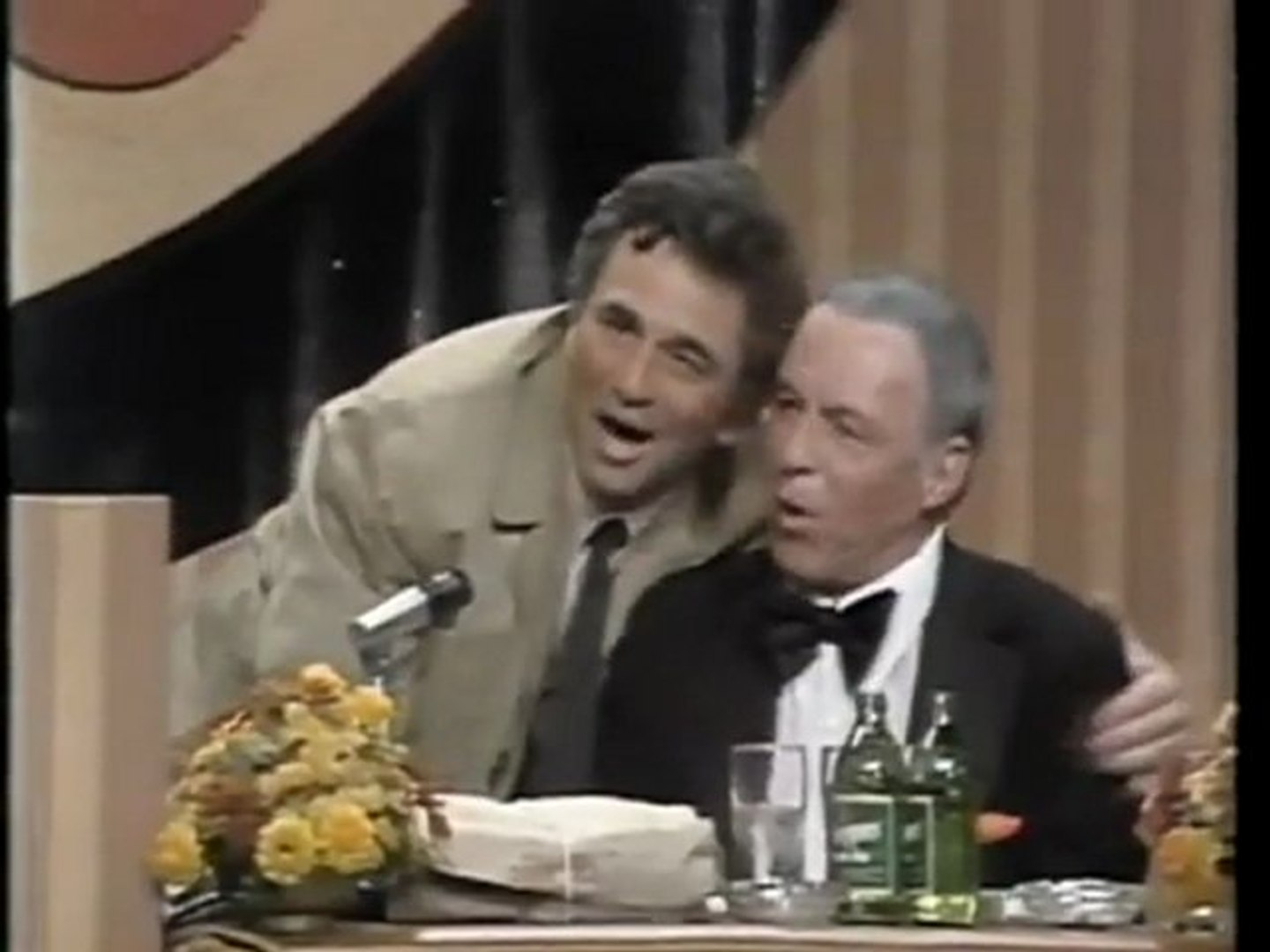 Peter Falk as 'Columbo' roasts Frank Sinatra