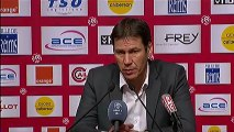 Conférence de presse Stade de Reims - LOSC Lille : Hubert FOURNIER (SdR) - Rudi GARCIA (LOSC) - saison 2012/2013