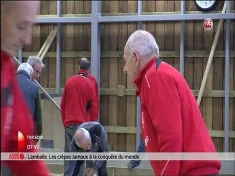 Reportage TV Rennes inauguration boulodrome couvert de Laillé USL Pétanque