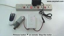 DC Reversing Motor Remote Controller 9V 12V 24V