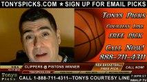 Detroit Pistons versus LA Clippers Pick Prediction NBA Pro Basketball Odds Preview 12-17-2012