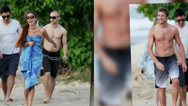 Jenson Button et sa petite-amie Jessica Michibata à Hawaï