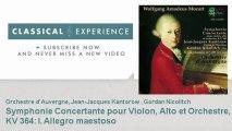 Wolfgang Amadeus Mozart : Symphonie Concertante pour Violon, Alto et Orchestre - ClassicalExperience