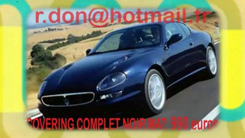 Maserati 3200 GT, Maserati 3200 GT, essai video Maserati 3200 GT, covering Maserati 3200 GT, Maserati 3200 GT peinture noir mat