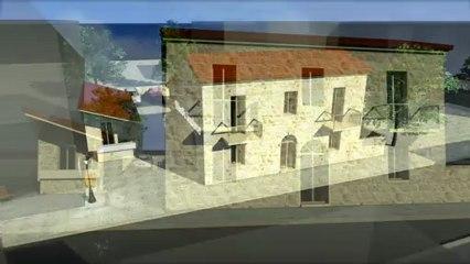 Réhabilitation de l'office de Tourisme du Sartenais Valinco Taravo en Corse Hyper TimeLapse 3d